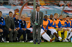 18.01.2010, Green Point Stadium, Cape Town, RSA, FIFA WM 2010, England (ENG) vs Algeria (ALG), im Bild Fabio Capello manager / head coach of England. EXPA Pictures © 2010, PhotoCredit: EXPA/ IPS/ Marc Atkins / SPORTIDA PHOTO AGENCY