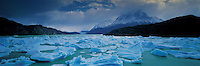 Panoramic View of Glacier Grey and Paine Grande Mount , Torres del Paine National Park , Patagonia , Chile