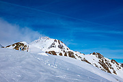 View of Le Pic du Midi de Bigorre, from La Mongie ski resort,  Bagnères-de-Bigorre, France.