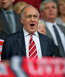 LIVERPOOL, ENGLAND - Saturday, April 23, 2011: Liverpool supporter and former Conservative Party leader Michael Howard before the Reds' Premiership match against Birmingham City at Anfield. (Photo by David Rawcliffe/Propaganda)