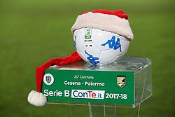 """Foto /Filippo Rubin<br /> 21/12/2017 Cesena (Italia)<br /> Sport Calcio<br /> Cesena - Palermo - Campionato di calcio Serie B ConTe.it 2017/2018 - Stadio """"Dino Manuzzi""""<br /> Nella foto: PALLONE DI NATALE<br /> <br /> Photo /Filippo Rubin<br /> Dicember 21, 2017 Cesena (Italy)<br /> Sport Soccer<br /> Cesena vs Palermo - Italian Football Championship League B 2017/2018 - """"Dino Manuzzi"""" Stadium <br /> In the pic: CHRISTMAS BALL"""