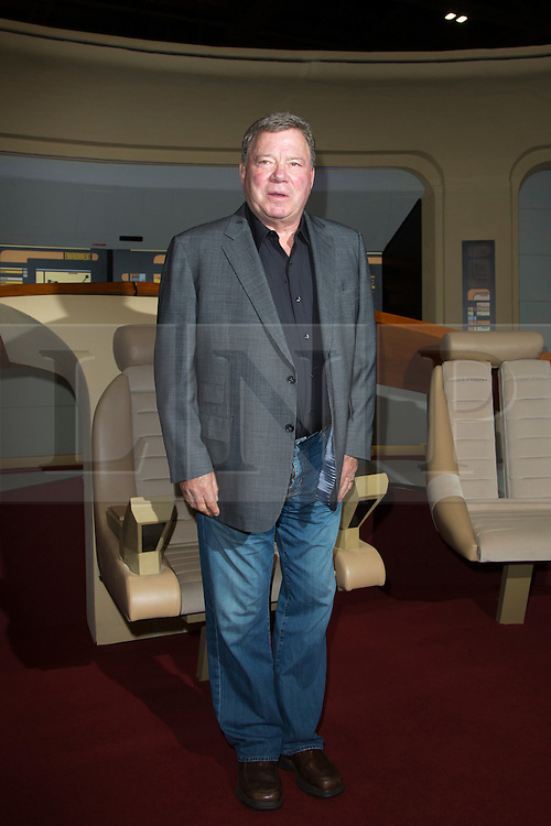 © Licensed to London News Pictures. 03/10/2014. London, England. Actor William Shatner on the Bridge of Star Trek: The Next Generation. Star Trek actors attend photocalls on the first day of Star Trek Destinations 3 at the Excel Exhibition Centre in East London.  Photo credit: Bettina Strenske/LNP