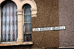 UK ENGLAND LONDON 15AUG06 - Lea Bridge Road street sign in Walthamstow, north London, where Police are investigating an alleged bomb plot...jre/Photo by Jiri Rezac..© Jiri Rezac 2006..Contact: +44 (0) 7050 110 417.Mobile:  +44 (0) 7801 337 683.Office:  +44 (0) 20 8968 9635..Email:   jiri@jirirezac.com.Web:    www.jirirezac.com..© All images Jiri Rezac 2006 - All rights reserved.