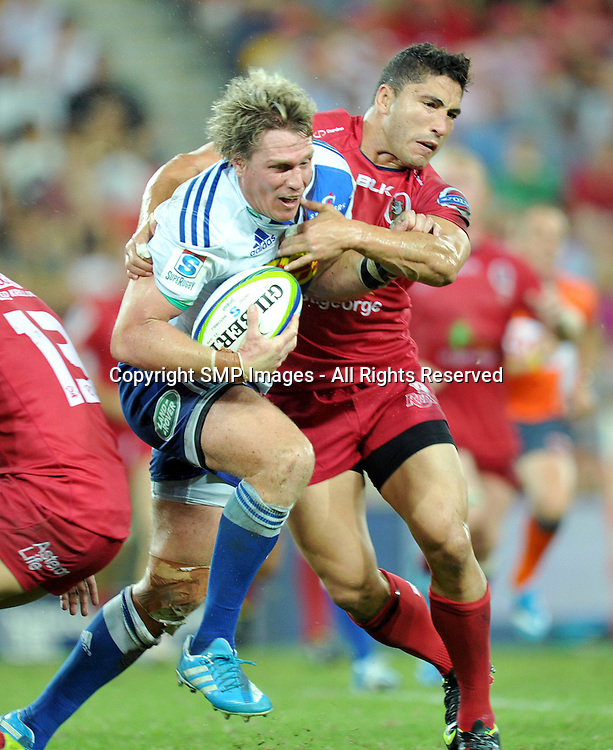 JEAN DE VILLIERS - REDS V STORMERS - 2014 SUPER RUGBY ROUND 7 - 29March2014, action from round 7  of the Super Rugby competition, between the Queensland Reds and The Western Stormers, being played at Suncorp Stadium, Brisbane, Australia.  This image is for Editorial Use Only. Any further use or individual sale of the image must be cleared by application to the Manager Sports Media Publishing (SMP Images). PHOTO : Scott Davis SMP IMAGES