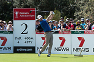 Brandt Snedeker (USA) on the second tee at Day 1 of The Emirates Australian Open Golf at The Lakes Golf Club in Sydney, Australia.