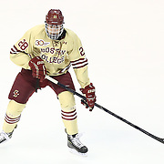 Scott Savage #28 of the Boston College Eagles on the ice during The Beanpot Championship Game at TD Garden on February 10, 2014 in Boston, Massachusetts. (Photo by Elan Kawesch)