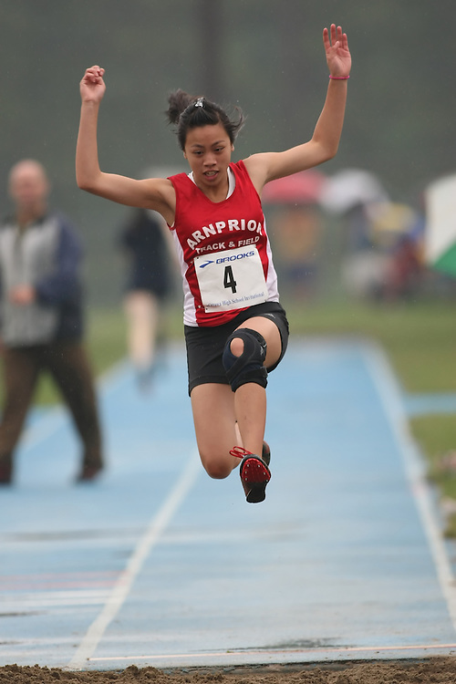 "(Ottawa, Ontario---20080628) ""Pan, Alicia"" competing in the long jump at the 2008 District G qualifier for the Royal Canadian Legion Ontario Track and Field Championships. This image is copyright Sean W. Burges, and the photographer can be contacted at seanburges@yahoo.com."