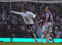 Photo: Olly Greenwood.<br />West Ham United v Tottenham Hotspur. The Barclays Premiership. 04/03/2007. Spurs Teemu Tianio celebrates scoring