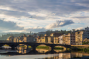 Sunrise, Arno River; Firenze; Florence; Italy