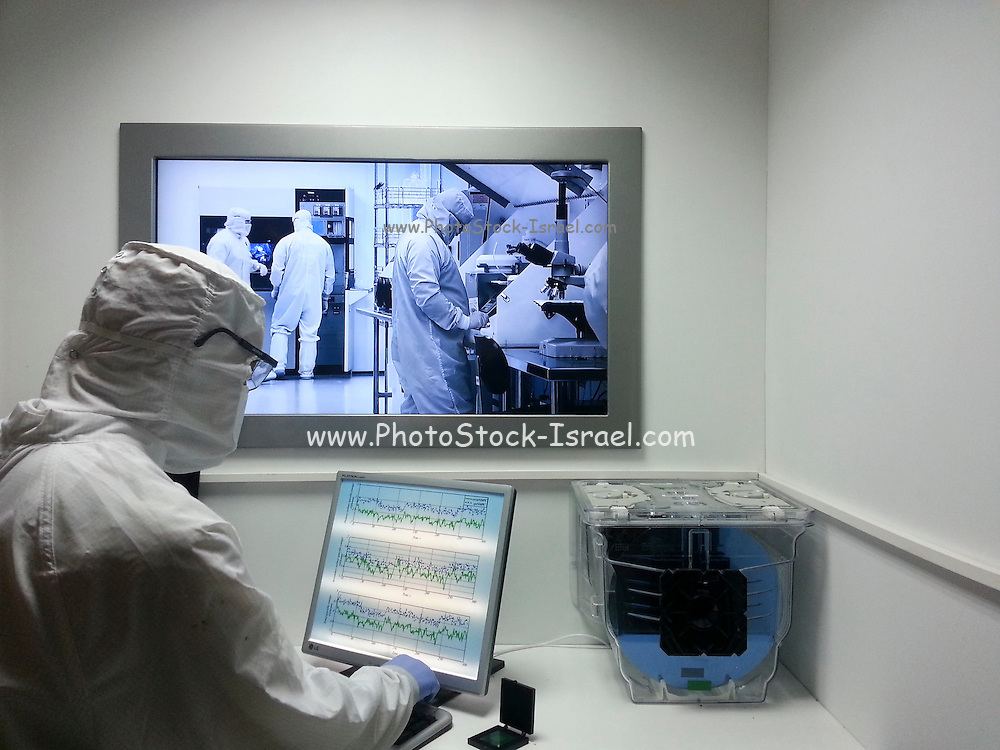 Mock-up of work within a semiconductor manufacturing clean room