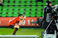 FOOTBALL - FRENCH CHAMPIONSHIP 2010/2011 - L1 - STADE RENNAIS v TOULOUSE FC - 3/10/2010 - PHOTO PASCAL ALLEE / DPPI - JOY ROMAIN DANZE (RENNES) AFTER HIS GOAL