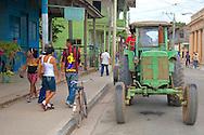 Tractor in Niquero, Granma, Cuba.