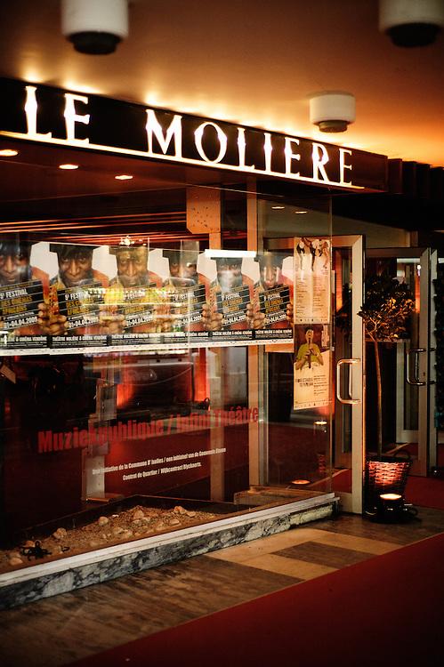 Le theatre Moliere, QG du Festival des cinemas Africains a Ixelles, près de Bruxelles. 3 mars 2009. Photo : Antoine Doyen