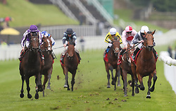 Circus Maximus ridden by Ryan Moore on their way to victory in the Homeserve Dee Stakes during Boodles Ladies Day at Chester Racecourse.