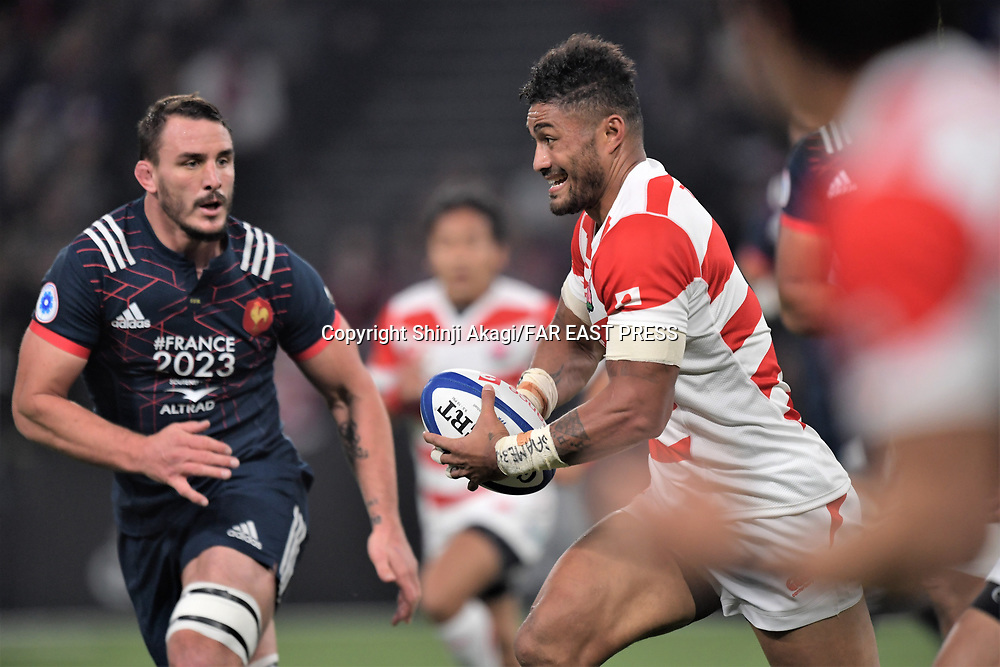Amanaki Lelei Mafi (JPN), NOVEMBER 18, 2017 - Rugby : Rugby test match between France and Japan at the U Arena in Nanterre, France. (Photo by FAR EAST PRESS/AFLO)