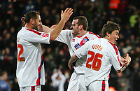 Crystal Palace FC vs Bristol City FC Championship 22/11/08<br /> Photo Nicky Hayes/Fotosports International<br /> Palace's trio of Kuqi,Beattie and Oster celebrate Beattie's goal.