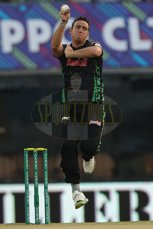 Kyle ABBOTT of the Dolphins  during match 4 of the Oppo Champions League Twenty20 between the Dolphins and the Perth Scorchers held at the Punjab Cricket Association Stadium, Mohali, India on the 20th September 2014<br /> <br /> Photo by:  Ron Gaunt / Sportzpics/ CLT20<br /> <br /> <br /> Image use is subject to the terms and conditions as laid out by the BCCI/ CLT20.  The terms and conditions can be downloaded here:<br /> <br /> http://sportzpics.photoshelter.com/gallery/CLT20-Image-Terms-and-Conditions-2014/G0000IfNJn535VPU/C0000QhhKadWcjYs