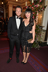 MELISSA HEMSLEY and HENRY RELPH at The Backstage Gala hosted by Diana Vishneva , Principal Dancer of the Mariinsky and American Ballet Theatre, and Natalia Vodianova in aid of The Naked Heart Foundation held at The London Coliseum, St.Martin's Lane, London on 17th April 2015.