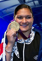 Auckland- Valerie Adams receives Olympic Gold Medal