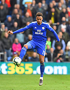 Josh Murphy (11) of Cardiff City during the Premier League match between Cardiff City and Chelsea at the Cardiff City Stadium, Cardiff, Wales on 31 March 2019.