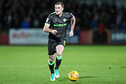 Forest Green Rovers Lee Collins(5) runs forward during the EFL Sky Bet League 2 match between Cheltenham Town and Forest Green Rovers at Jonny Rocks Stadium, Cheltenham, England on 29 December 2018.