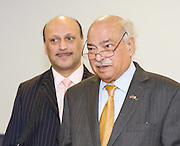 Liberal Democrat Friends of Pakistan <br /> reception<br /> Hosted by the High Commission of Pakistan<br /> 18th September 2011<br /> Jurys Hotel, Birmingham, Great Britain <br /> <br /> <br /> Qassim Afzal<br /> Liberal Democrat, Manchester Gorton<br /> <br /> Wajid Shamsul Hasan <br /> High Commissioner for Pakistan <br /> <br /> Photograph by Elliott Franks