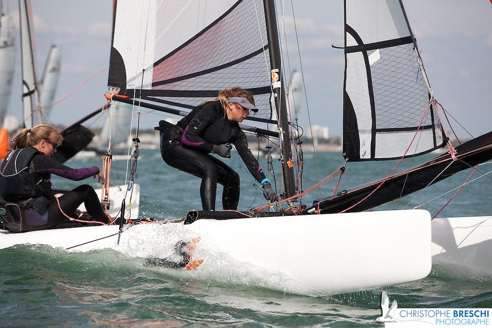 national jeune catamaran à La Rochelle / Formule Kid 14 pieds : TOPPAZ 14 CX , DRAGOON, TYKA ;SL/KL 15.5 ; SL16