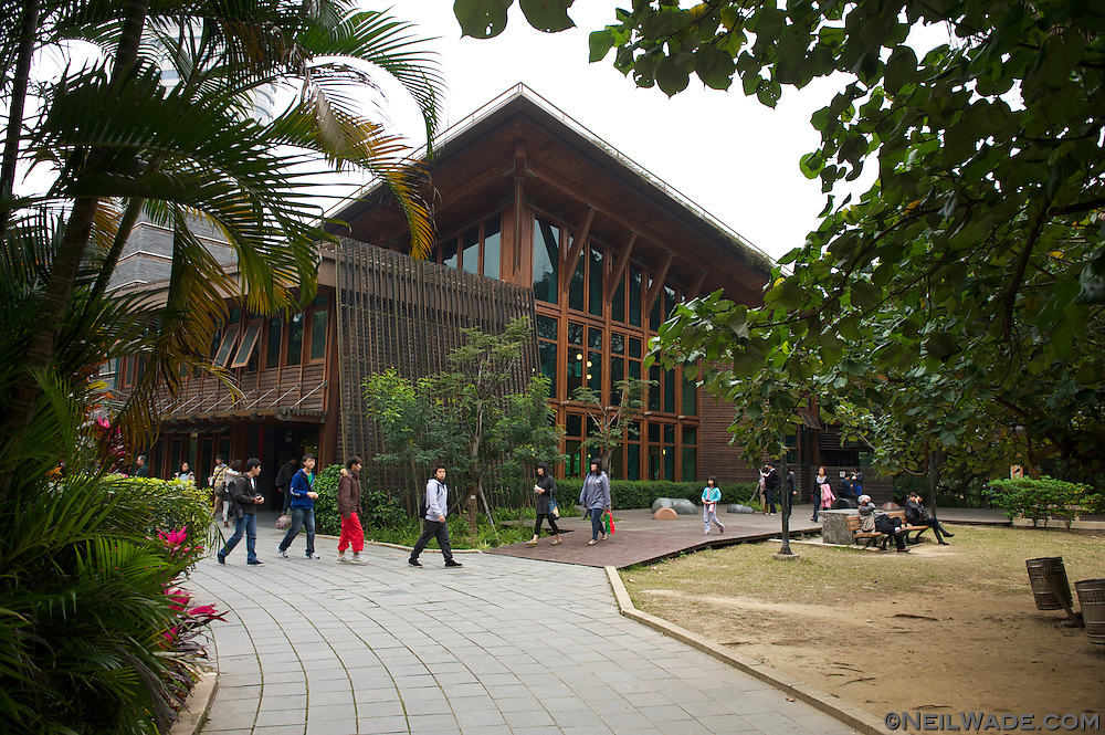 The Beitou Public Library, in Taipei, Taiwan.