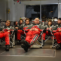 Audi Race Team resting while the race is underway (Le Mans 24 2013)