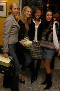 Tanya Bryer, Kim Hersov, Heather Kerzner  and Tamara Mellon. 'Pret-a-Portea'M.A.C. launches High Tea collection with British fashion designers. Berkeley Hotel. 17 January 2004. ONE TIME USE ONLY - DO NOT ARCHIVE  © Copyright Photograph by Dafydd Jones 66 Stockwell Park Rd. London SW9 0DA Tel 020 7733 0108 www.dafjones.com