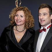 NLD/Utrecht/20150107 - Inloop Musical Awards Gala 2015, Maaike Widdershoven en partner Daniel Staakman