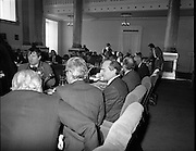 European Foreign Ministers Meet in Dublin.  (J2)..13.02.1975..02.13.1975..13th February 1975..A meeting of European foreign ministers took place in Dublin today. Ireland's representative at the meeting was Dr Garret Fitzgerald, the minister for Foreign Affairs. Other ministers attending the meeting were:.Mr M.Van Eslande...Belgium..Mr M.E. Joergenson...Denmark..Mr M.M.Rumor...Italy..Mr M.Jean Sauvagnargues...France..Mr M.Gaston Thorn...Luxembourg..Mr M.M.Van der Stoel...Holland..Mr Hans-Dietrich Genscher...Germany..Mr Roy Hattersley...Great Britain..and representing the Commission,.Mr. M.Francois-Xavier Ortoli..St Patrick's Hall,Dublin Castle, was the venue chosen for the meeting..Photographers take their last photographs before the meeting begins.