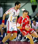 GEPA-26011050070 - INNSBRUCK,AUSTRIA,26.JAN.10 - SPORT DIVERS, HANDBALL - EHF Europameisterschaft, EURO 2010, Laenderspiel, Polen vs Tschechien. Bild zeigt Jiri Vitek (CZE) und Tomasz Tluczynski (POL). Foto: GEPA pictures/ Thomas Bachun.FOT. GEPA / WROFOTO.*** POLAND ONLY !!! ***