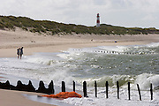 Ellenbogenspitze?Sylt's northernmost tip. Nort Sea. Buhnen, supposed to stop erosion, are slowly crumbling and becoming dangerous submerged obstacles for swimmers.