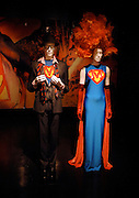Exhibits on display as the Costume Institute presents the 'Superheroes: Fashion And Fantasy' press preview at the Metropolitan Museum of Art in New York City, USA on May 4, 2008.