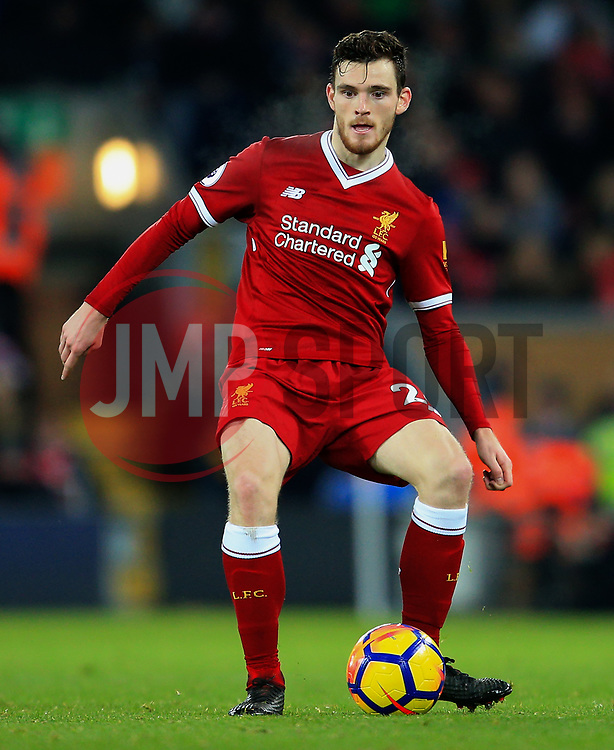 Andrew Robertson of Liverpool - Mandatory by-line: Matt McNulty/JMP - 26/12/2017 - FOOTBALL - Anfield - Liverpool, England - Liverpool v Swansea City - Premier League