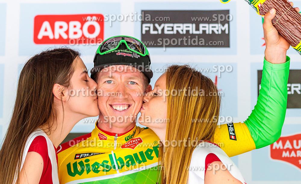 03.07.2017, Wien, AUT, Ö-Tour, Österreich Radrundfahrt 2017, 1. Etappe von Graz nach Wien (193,9 km), Siegerehrung, im Bild Träger des Gelben Trikots Sep Vanmarcke (BEL, Cannondale Drapac Professional Cycling Team) // yellow jersey for the Lead Sep Vanmarcke (BEL Cannondale Drapac Professional Cycling Team) on Podium during the winner ceremony for the 1st stage from Graz to Vienna (193,9 km) of 2017 Tour of Austria. Wien, Austria on 2017/07/03. EXPA Pictures © 2017, PhotoCredit: EXPA/ JFK