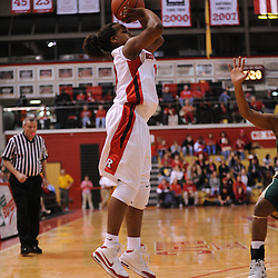 Jan 31, 2009; Piscataway, NJ, USA; Rutgers guard Epiphanny Prince (10) takes a three point shot from the corner during the first half of South Florida's 59-56 victory over Rutgers in NCAA women's college basketball at the Louis Brown Athletic Center