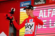Podium, Michal Kwiatkowski (POL - Team Sky) Red Jersey, during the UCI World Tour, Tour of Spain (Vuelta) 2018, Stage 4, Velez Malaga - Alfacar Sierra de la Alfaguara 161,4 km in Spain, on August 28th, 2018 - Photo Luis Angel Gomez / BettiniPhoto / ProSportsImages / DPPI