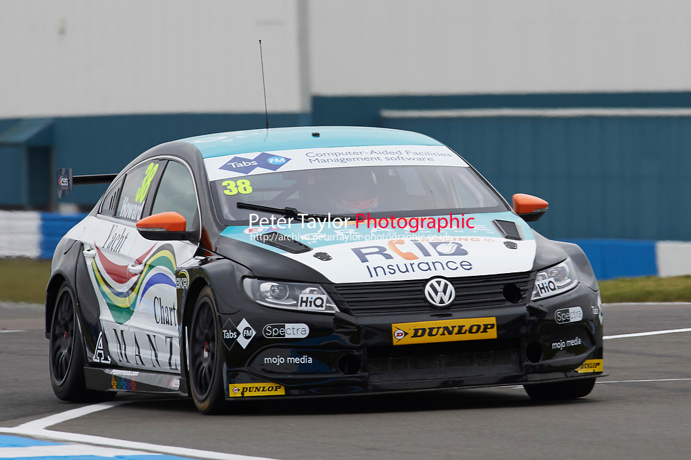 #38 Mark Howard GBR BKR Volkswagen CC during Media Day Test Session as part of the BTCC Media Day at Donington Park, Melbourne, Leicestershire, United Kingdom. March 22 2016. World Copyright Peter Taylor/PSP. Copy of publication required for printed pictures.  Every used picture is fee-liable.