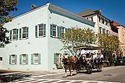 Historic home on Rainbow Row in Charleston, SC.