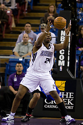February 28, 2010; Sacramento, CA, USA;  Sacramento Kings forward Carl Landry (24) grabs a rebound against the Los Angeles Clippers during the first quarter at the ARCO Arena.  Sacramento defeated Los Angeles 97-92.
