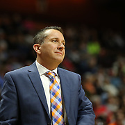 UNCASVILLE, CONNECTICUT- JUNE 3:   Curt Miller, Head Coach of the Connecticut Sun, on the sideline during the Atlanta Dream Vs Connecticut Sun, WNBA regular season game at Mohegan Sun Arena on June 3, 2016 in Uncasville, Connecticut. (Photo by Tim Clayton/Corbis via Getty Images)