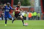 AFC Bournemouth's Eunan O'Kane on the ball during the Barclays Premier League match between Bournemouth and Leicester City at the Goldsands Stadium, Bournemouth, England on 29 August 2015. Photo by Mark Davies.