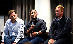 Bristol City head coach Lee Johnson, Bristol City chief operating officer Mark Ashton, Bristol City assistant head coach Dean Holden and Bristol City assistant head coach Jamie McAllister take part in a fans Q&A session - Mandatory by-line: Robbie Stephenson/JMP - 07/09/2017 - FOOTBALL - Ashton Gate - Bristol, England - Bristol City Fans Q&A