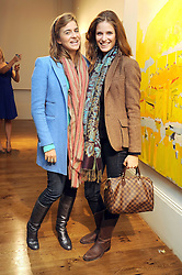 Left to right, VICTORIA RONCORONI and ALESSIA PIOVAN at an exhibition of Tahnee Lonsdale's paintings held at The Commander, 47 Hereford Road, London on 8th October 2008.