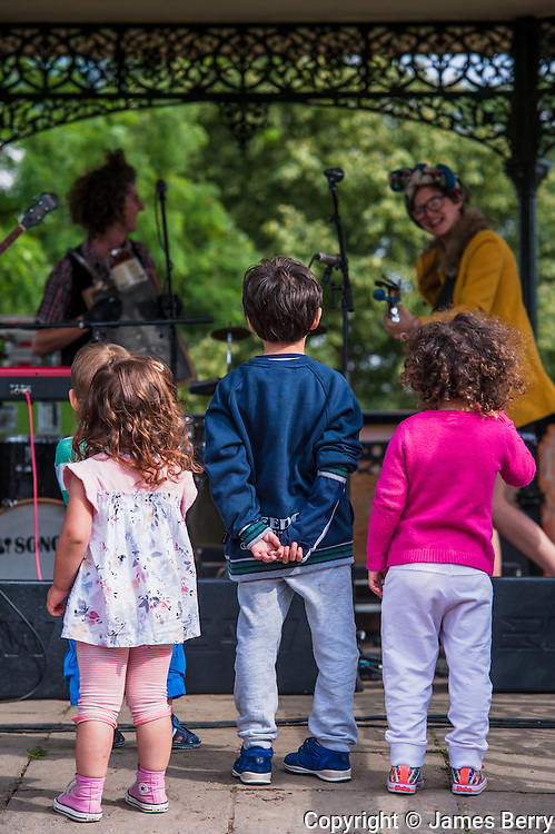 Perch Creek Family Jugband. Alternative Commonwealth Games, Hampstead Heath, 13 July 2014.