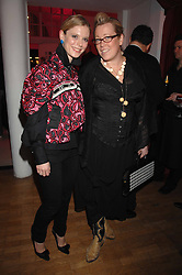 Left to right, actress EMILIA FOX and KATE HALFPENNY at the Art Plus Drama party Held at the Whitechapel Art Gallery, London E1 on 8th March 2007. <br />