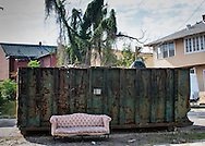 Couch on the street in New Orleans post-Katrina
