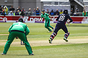 Joe Root of England on the move during the One Day International match between England and Ireland at the Brightside County Ground, Bristol, United Kingdom on 5 May 2017. Photo by Andrew Lewis.